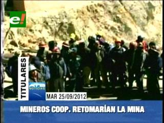 Gobierno denuncia que mineros cooperativistas intentarán retomar la mina Colquiri