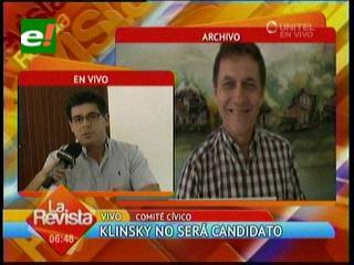 Klinsky declinó su postulación al Comité y respalda a Castedo