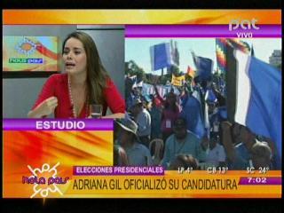 """Adriana Gil: """"Tengo las agallas para encarar la candidatura presidencial"""""""
