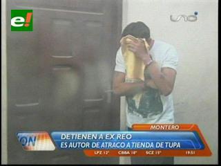 Montero: Detienen a ex reo, es el supuesto autor del atraco a la tienda de la familia Tupa