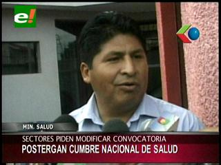 Postergan Cumbre Nacional de Salud en Tarija