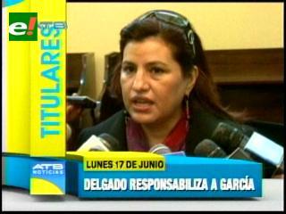 """Titulares: Diputada Delgado rechaza calificativo de """"libre opositores"""" al Gobierno de Evo y otras noticias"""