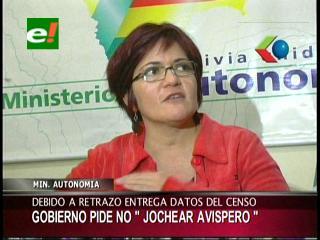 """Retraso de los datos del censo: Ministra de Autonomías pide a la oposición no """"jochear el avispero"""""""
