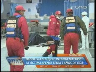 Padre asesina a su hijo de tres años en Pampahasi