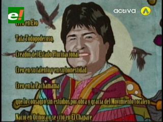 """Oración de Valverde al """"Tata Evo"""""""