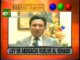 Titulares: Diputados devuelven al Senado el proyecto de ley de Abogacía y otras noticias
