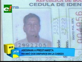 Portachuelo: Matan a un prestamista en su casa