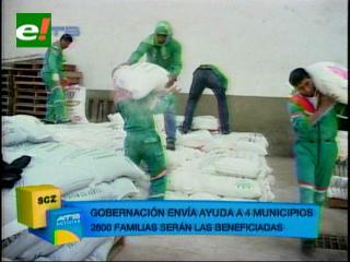 Gobernación cruceña enviará alimentos a los Municipios afectados por la sequía