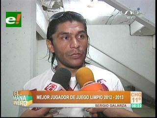 """Eligen a Sergio Galarza jugador """"Juego Limpio"""" 2012-2013"""