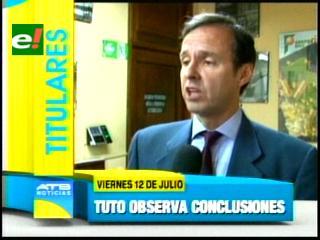 Titulares: Tuto Quiroga observa las conclusiones del Mercosur, pedirá un salvoconducto para Roger Pinto