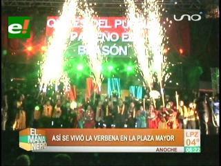 La Paz festejó su aniversario con dos verbenas