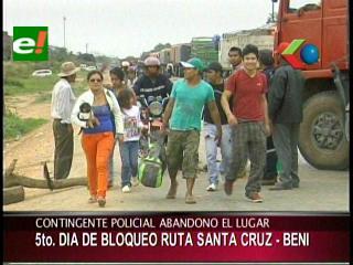 Quinto día de bloqueo en San Julián, anuncian movilización