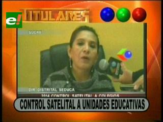 Titulares: Anuncian control satelital a unidades educativas del país y otras noticias