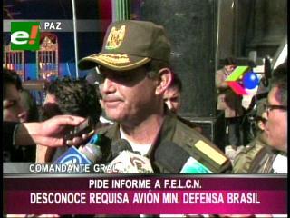 Comandante de la Policía pedirá un informe a la Felcn sobre la requisa del avión brasilero