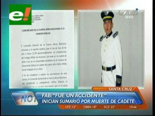 Investigan la muerte de un cadete en el Colmilav, FAB dice que fue un accidente