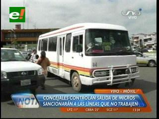 Santa Cruz: Concejo Municipal amenaza con sancionar a micreros que no trabajen