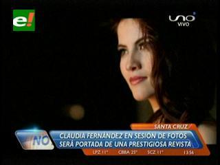 Claudia Fernández en sesión de fotos para una prestigiosa revista