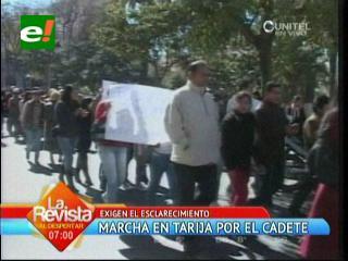 Tarija: Marcha de protesta por muerte de cadete del Colmilav