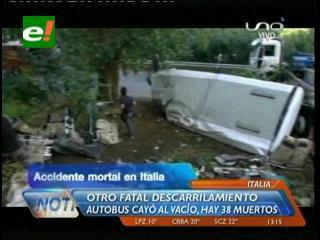 Italia: Al menos 38 muertos en accidente de autobús