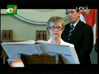 En España asume el cargo la primera concejal con síndrome de Down