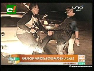 Maradona pateó a un fotógrafo y protagonizó nuevo escándalo