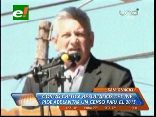"""Rubén Costas asegura que los resultados del censo """"están maquillados"""""""