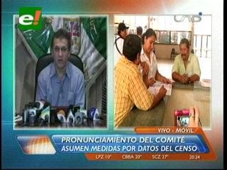 Datos del censo: Cívicos convocan a una Asamblea de la Cruceñidad