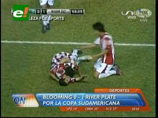 Copa Sudamericana: Blooming cae de local 0-1 ante River Plate de Uruguay