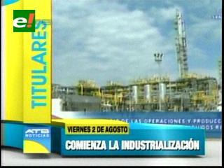 Titulares: Evo Morales inauguró la Planta Separadora de Líquidos de Río Grande