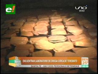 Felcn interviene fábrica de cocaína cerca de Terebinto