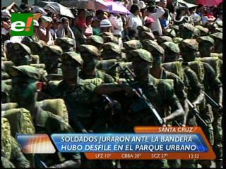 Militares de Santa Cruz juran defender la democracia con sus vidas