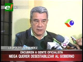 Leopoldo Fernández rechaza acusaciones de viceministro de Gobierno
