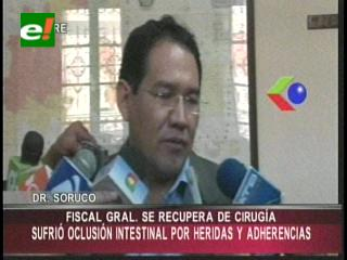 Fiscal General se recupera de intervención quirúrgica