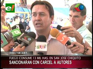 ABT anuncia procesos penales contra responsables del incendio en Chiquitos