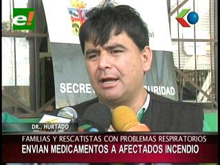 Sedes Santa Cruz envía medicamentos para afectados por el incendio en San José