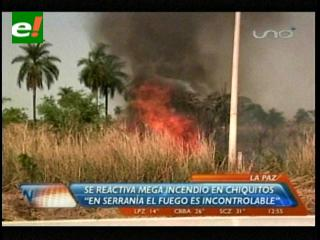 Se reactiva el incendio en San José de Chiquitos
