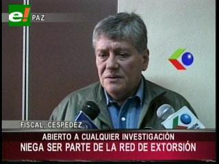 Fiscal Céspedes niega ser parte de la red de extorsión en el caso terrorismo