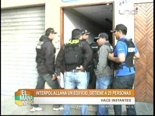 Santa Cruz: Interpol allana un edificio y detiene a más de 20 personas