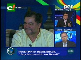 """Roger Pinto: """"Tengo un refugio diplomático, que se transformó en un refugio político"""""""