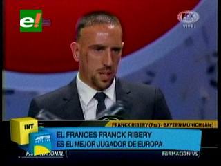 Franck Ribéry es el mejor jugador de Europa de la temporada 2012-2013