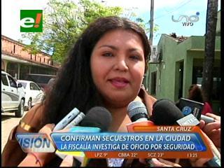 Fiscalía confirma secuestros en Santa Cruz