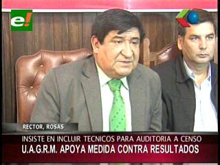 Uagrm apoya las movilizaciones de los cívicos contra los resultados del censo