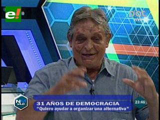 """Jaime Paz Zamora: """"Mi obligación es ayudar a crear una alternativa política al Gobierno"""""""