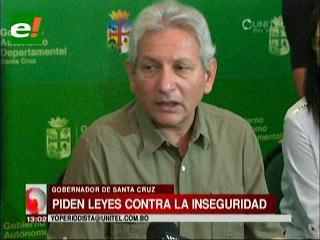 Rubén Costas exige al Gobierno la implementación de políticas contra la inseguridad ciudadana
