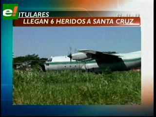 Titulares: Llegan 6 heridos de la tragedia de Aerocon a Santa Cruz