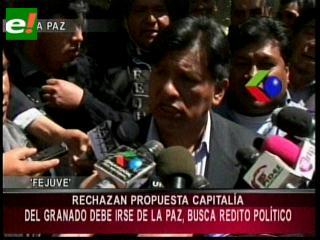 Fejuve declara 'enemigo' de los paceños a Juan Del Granado