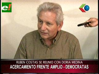Rubén Costas anuncia próxima reunión con Samuel Doria Medina