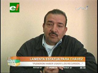 Diputado Martínez critica la inauguración de la estatua de Hugo Chávez en Riberalta