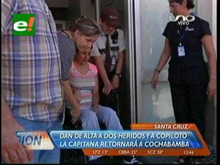 Médicos dan de alta a copiloto del avión siniestrado de Aerocon