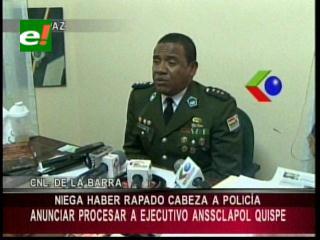 """Director de Tránsito de La Paz niega haber obligado a """"raparse"""" la cabeza a un policía"""